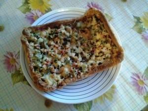 слоеная пицца с курицей