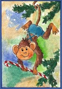 как сделать новогоднюю открытку своими руками 2