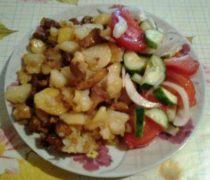 жареная картошка с грибами рецепт 3