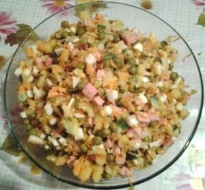 традиционный салат оливье 4