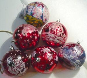 украшение ёлочного шарика 8