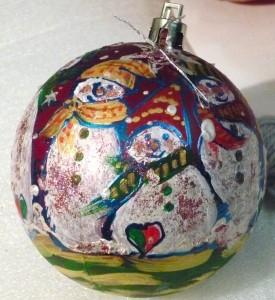 украшение ёлочного шарика 4