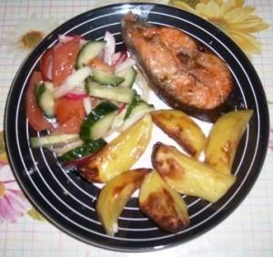 рецепт форель запеченная с картофелем 4