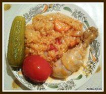 рис с овощами и курицей рецепт