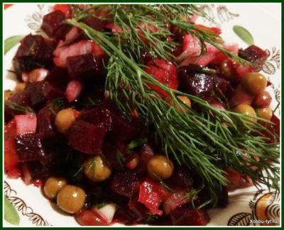 салат со свеклой и помидором 1