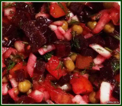 салат со свеклой и помидором 6